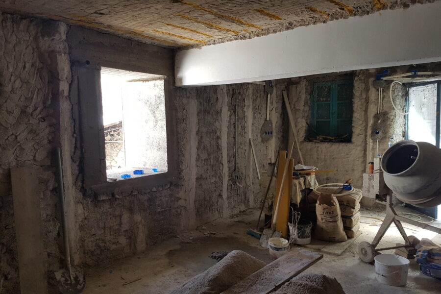 Ενίσχυση και επισκευή φέρουσας τοιχοποιίας για προσθήκη ορόφου